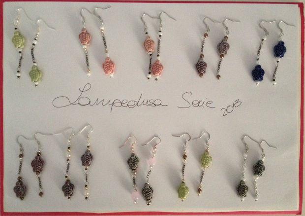 Orecchini Lampedusa di diversi colori