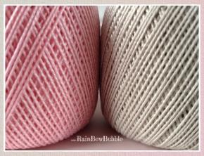 Gomitolo rosa e gomitolo grigio chiaro - ispirazioni per future creazioni