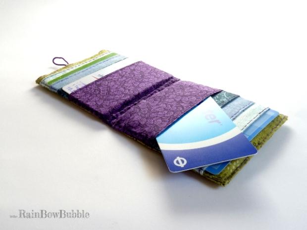 porta card in stoffa