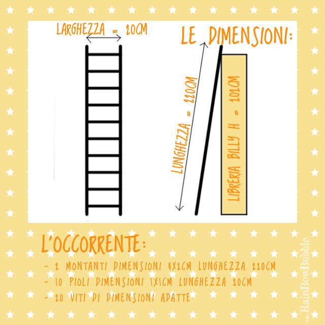 scaletta in legno ikea : pezzi di legno necessari sono 2 montanti di sezione 4x1cm e ...