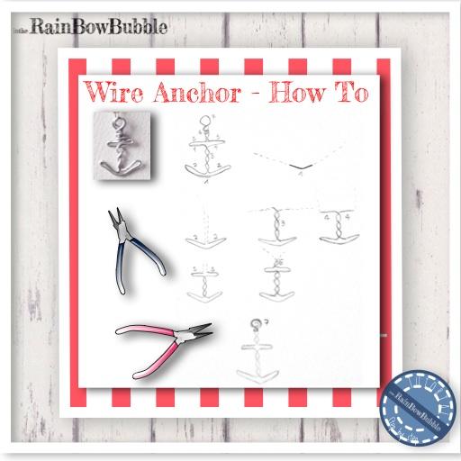Ciondolo Ancora in tecnica wire - Step by step tutorial